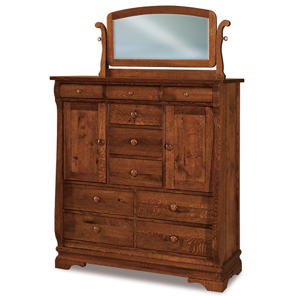 Amish Chippewa Sleigh His & Hers Chest | Amish Furniture | Shipshewana Furniture Co.