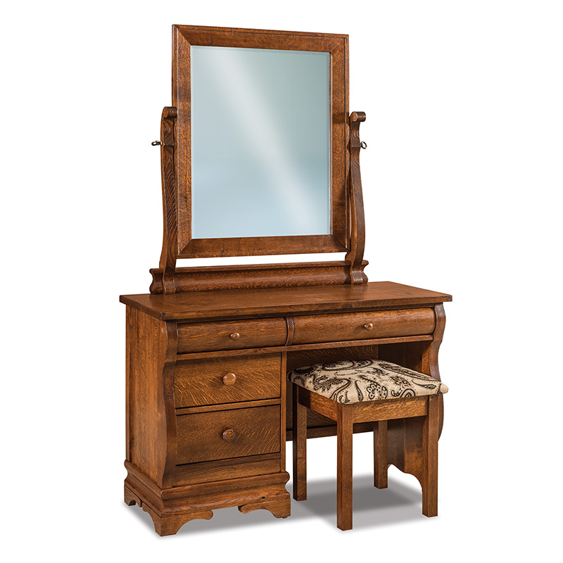 Chippewa Sleigh Vanity Dresser with Bench
