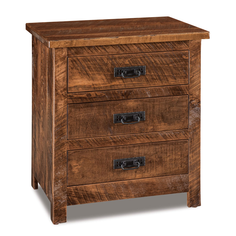 "Dumont 3 Drawer Nightstand 25""W"