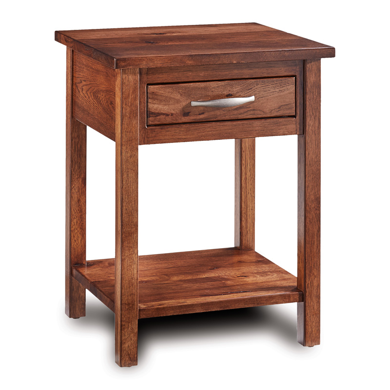 Denver 1 Drawer Open Nightstand