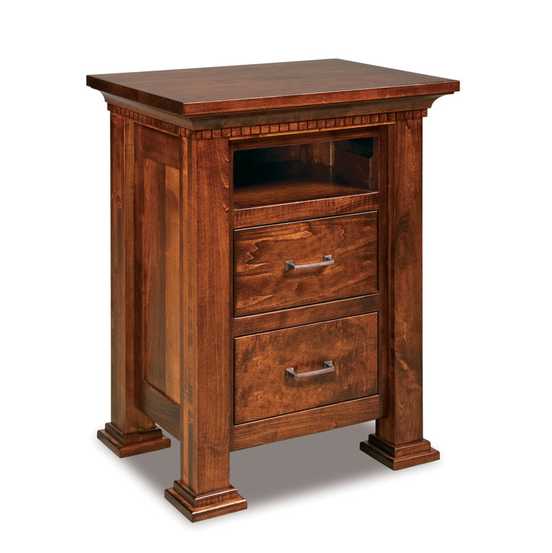 Empire 2 Drawer Nightstand with Opening