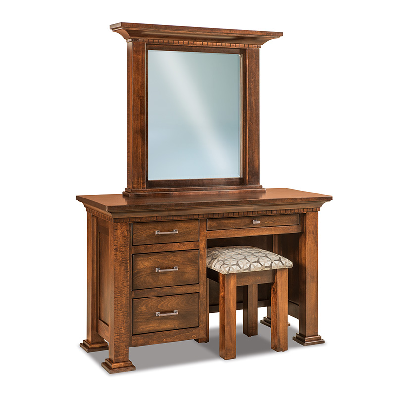 Empire Vanity Dresser with Bench