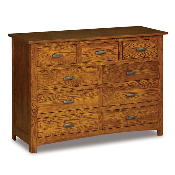 "Flush Mission 9 Drawer Mule Dresser 59""W"