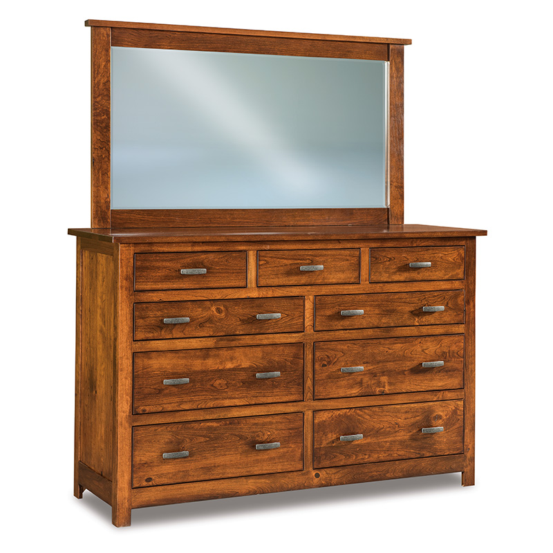 "Flush Mission 9 Drawer Dresser 66""W"