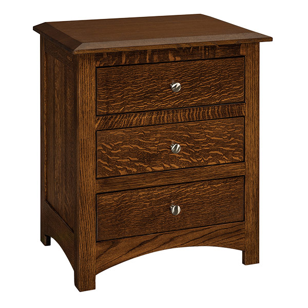 Finland 3 Drawer Nightstand