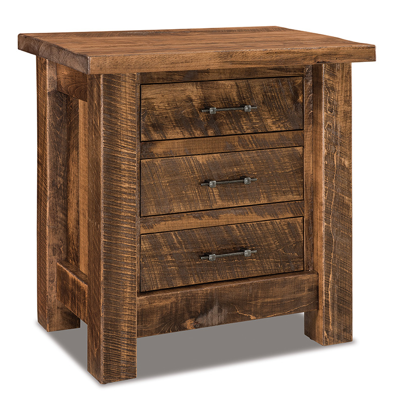 "Houston 3 Drawer Nightstand 30""W"
