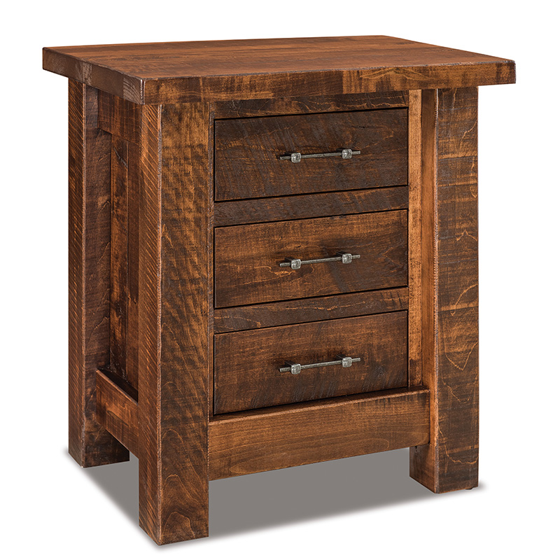 "Houston 3 Drawer Nightstand 27""W"