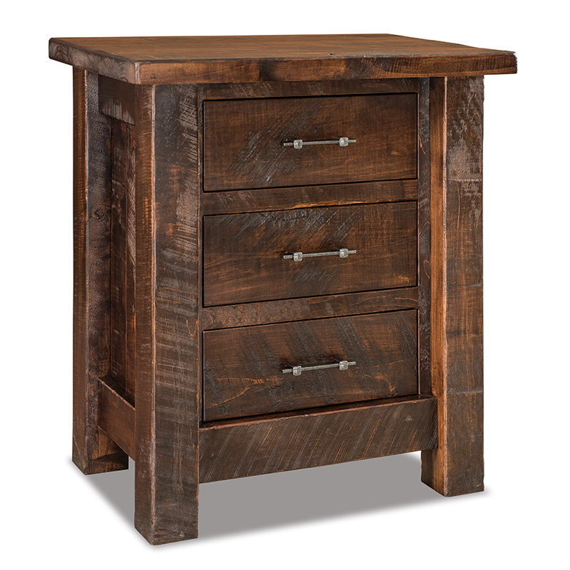 Houston 3 Drawer Nightstand - Taller