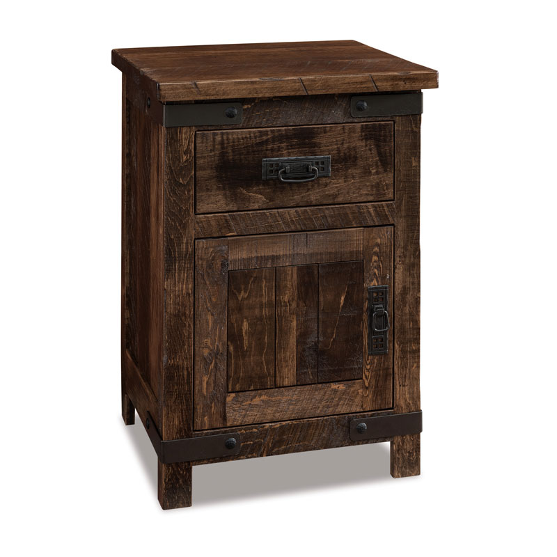 Ironwood 1 Drawer-1 Door Nightstand