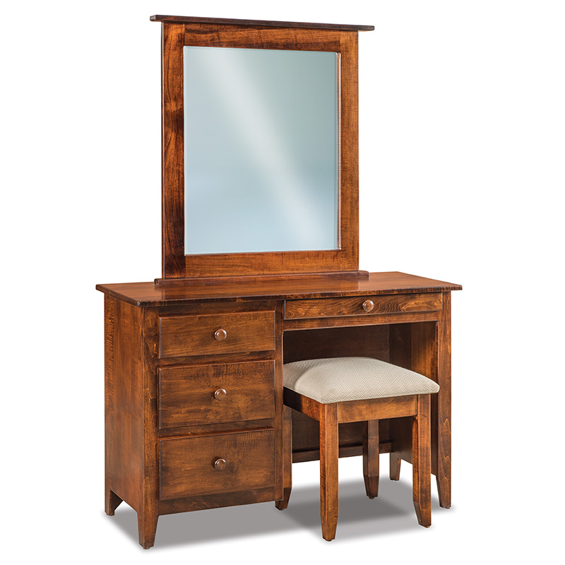 Shaker J&R Vanity Dresser with Bench