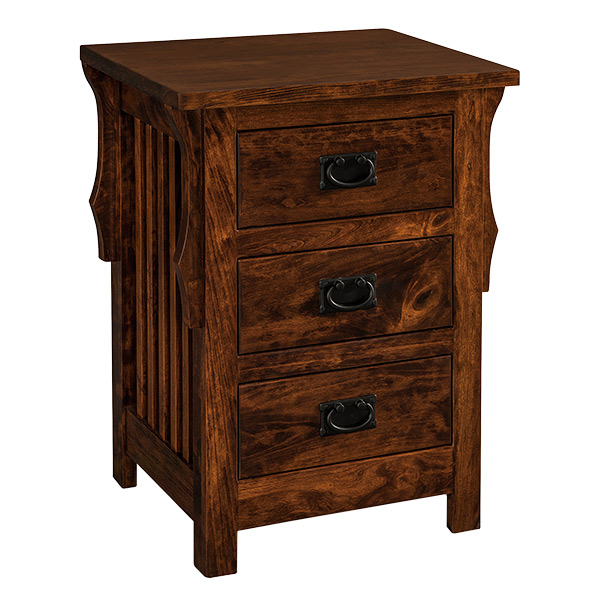 Stick Mission 3 Drawer Narrow Nightstand