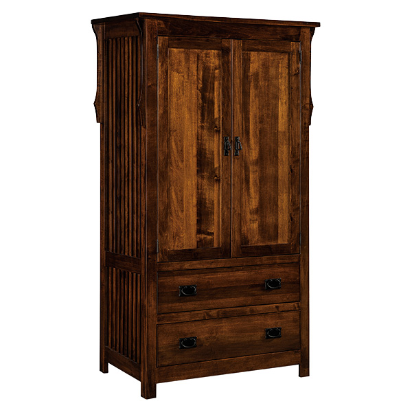 Stick Mission 2 Drawer Armoire