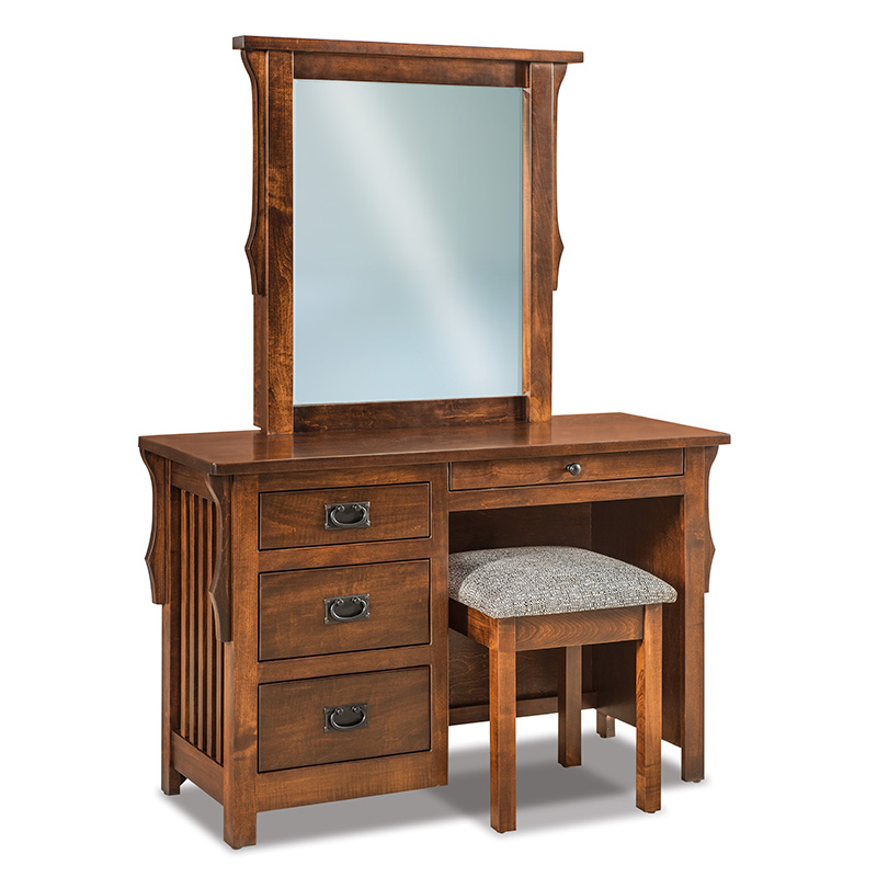 Stick Mission Vanity Dresser with Bench