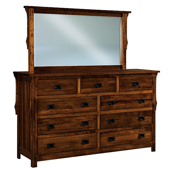 Stick Mission 9 Drawer Dresser 73""