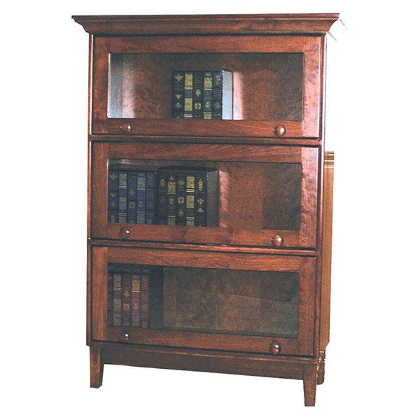 Amish Shaker Barrister Bookcase   Amish Furniture   Shipshewana Furniture  Co.