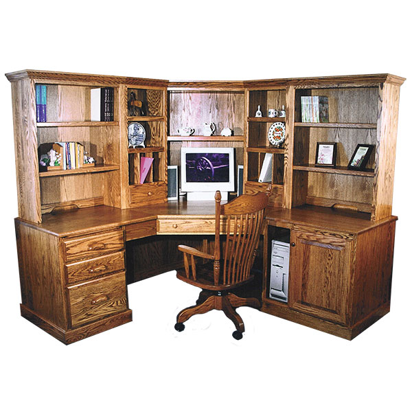 Amish Traditional Corner Computer Center | Amish Furniture | Shipshewana Furniture Co.