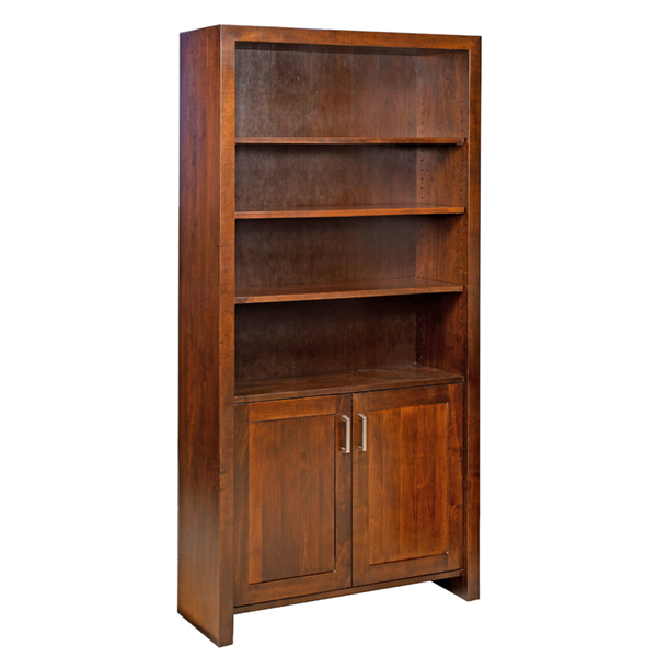 Amish Tempo Bookcase with Doors | Amish Furniture | Shipshewana Furniture Co.