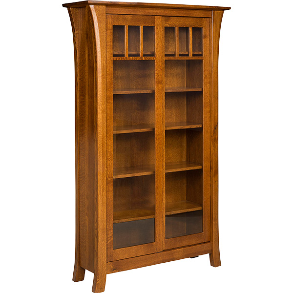 Enfield Bookcase with Sliding Doors