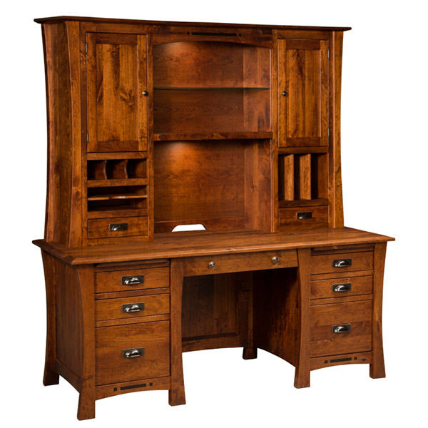 Amish Arts and Crafts Wall Desk | Amish Furniture | Shipshewana Furniture Co.