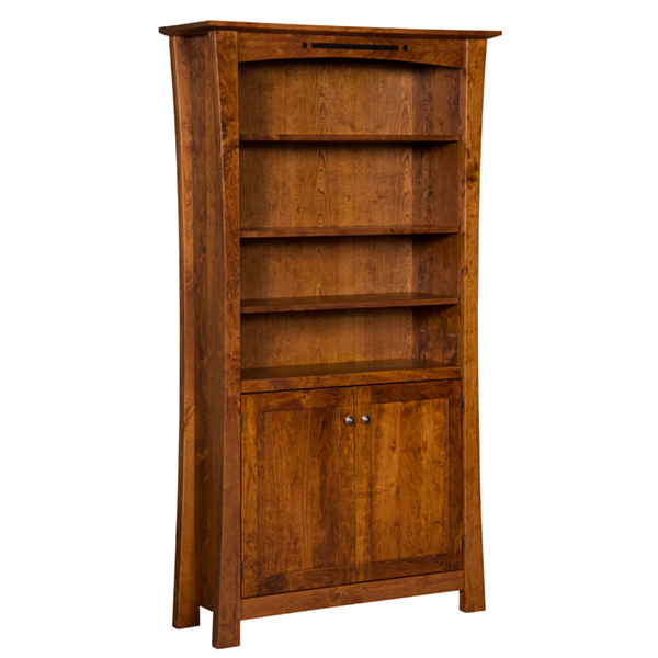Amish Arts and Crafts Bookcase with Doors | Amish Furniture | Shipshewana Furniture Co.