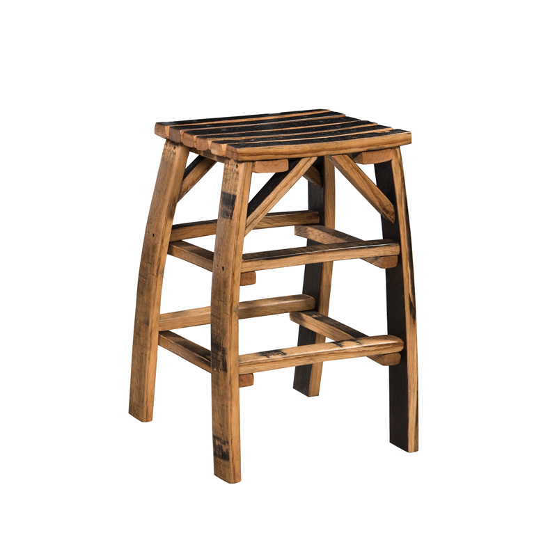 Barrel Stave Bar Stool without Back