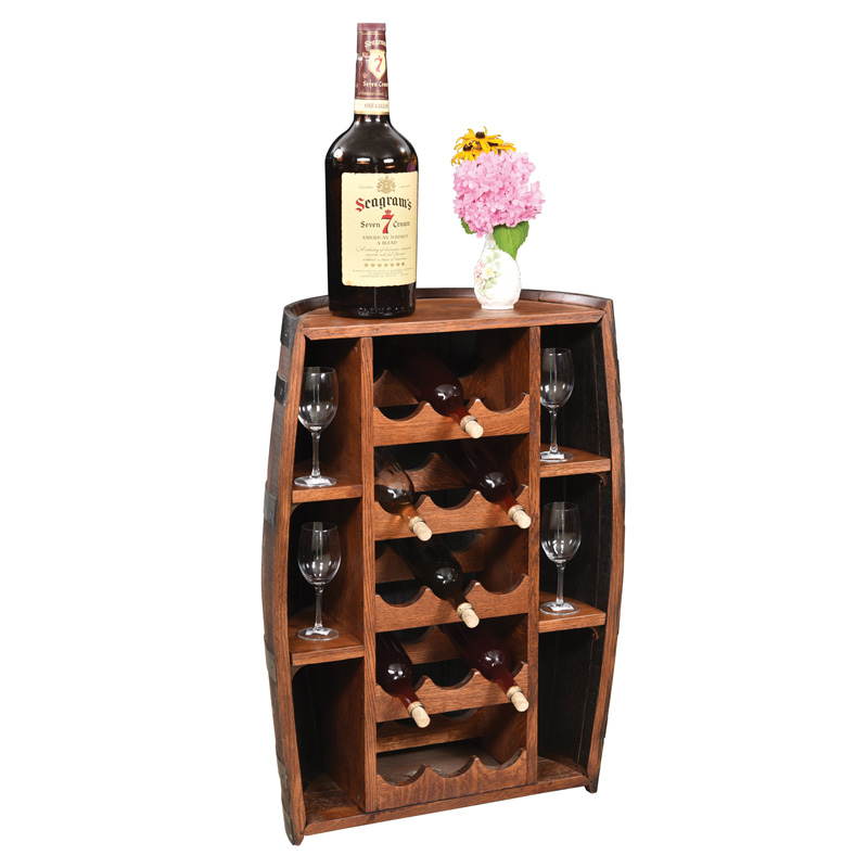 Half Barrel Bottle Holder Floor Stand