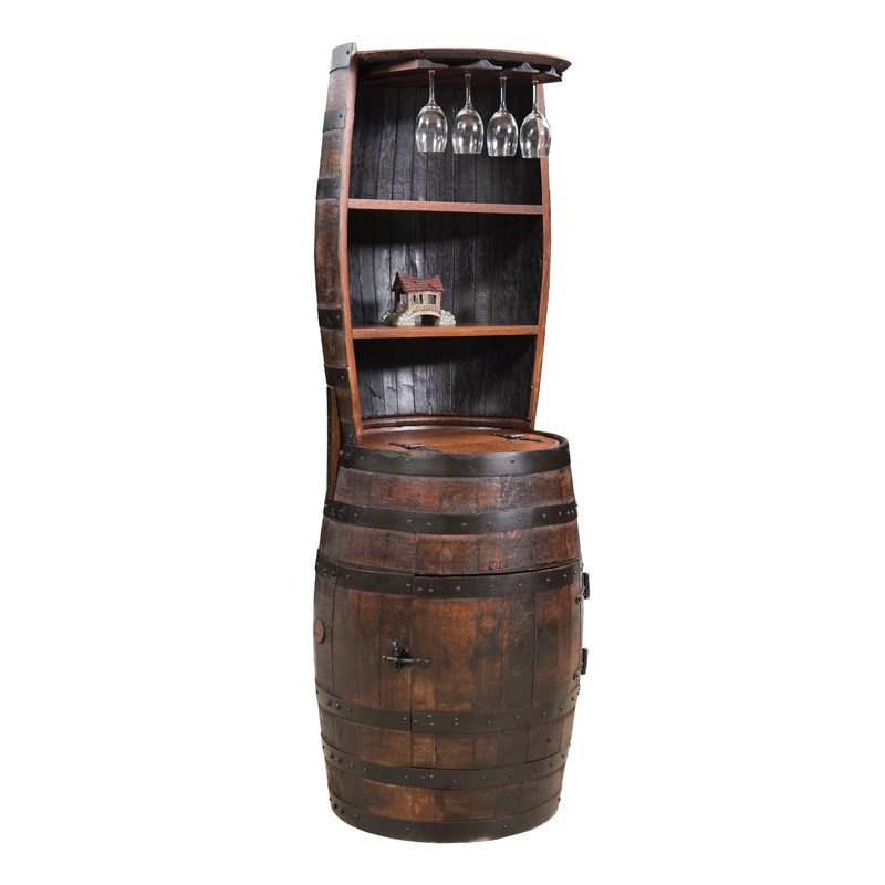 Barrel Hutch with Shelves