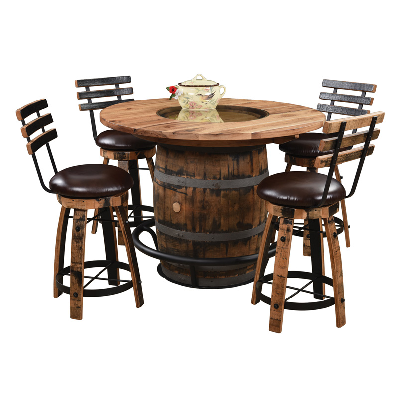 Brilliant Barrel Table With 1 25 Wood Glass Top Download Free Architecture Designs Scobabritishbridgeorg