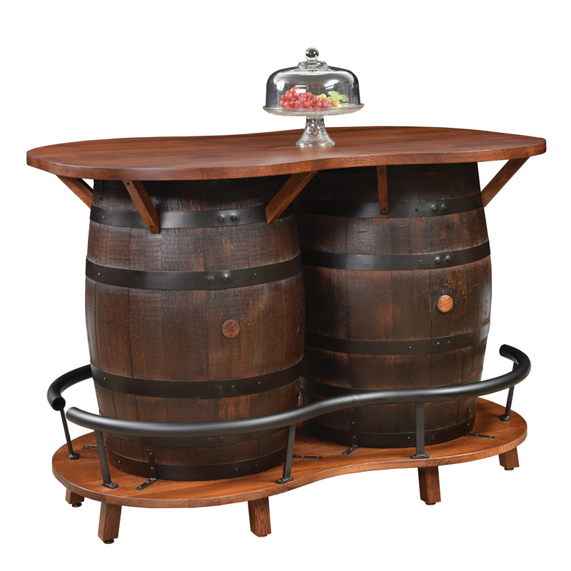 2-Barrel Bar Table