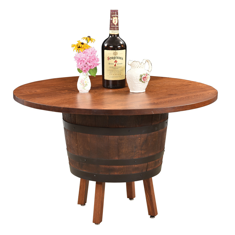 Barrel Table with Legs