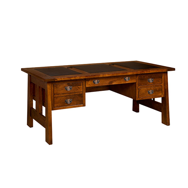 Amish Freemont Mission Open Pedestal Desk | Amish Furniture | Shipshewana Furniture Co.