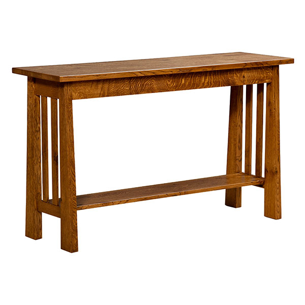 Amish Freemont Mission Open Return Table | Amish Furniture | Shipshewana Furniture Co.