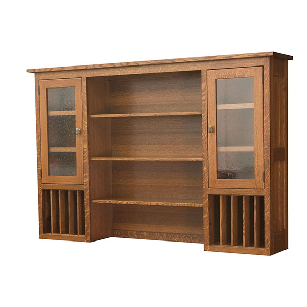 Amish Freemont Mission Hutch Top | Amish Furniture | Shipshewana Furniture Co.
