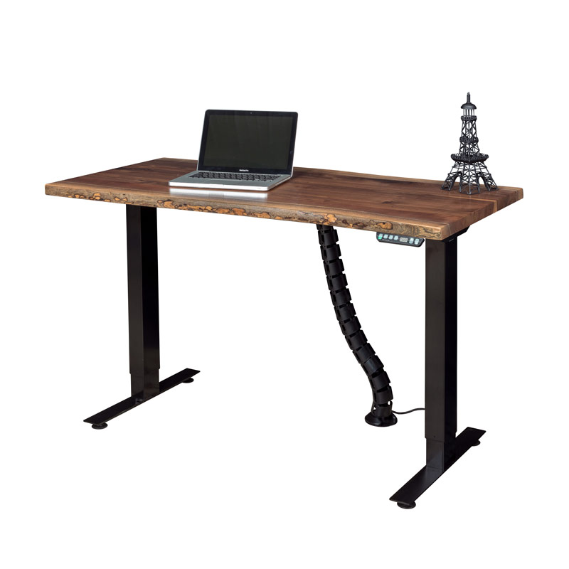 Adona Adjustable Standing Desk Live Edge