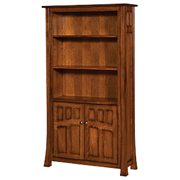 Bridgefort Mission Bookcase with Doors