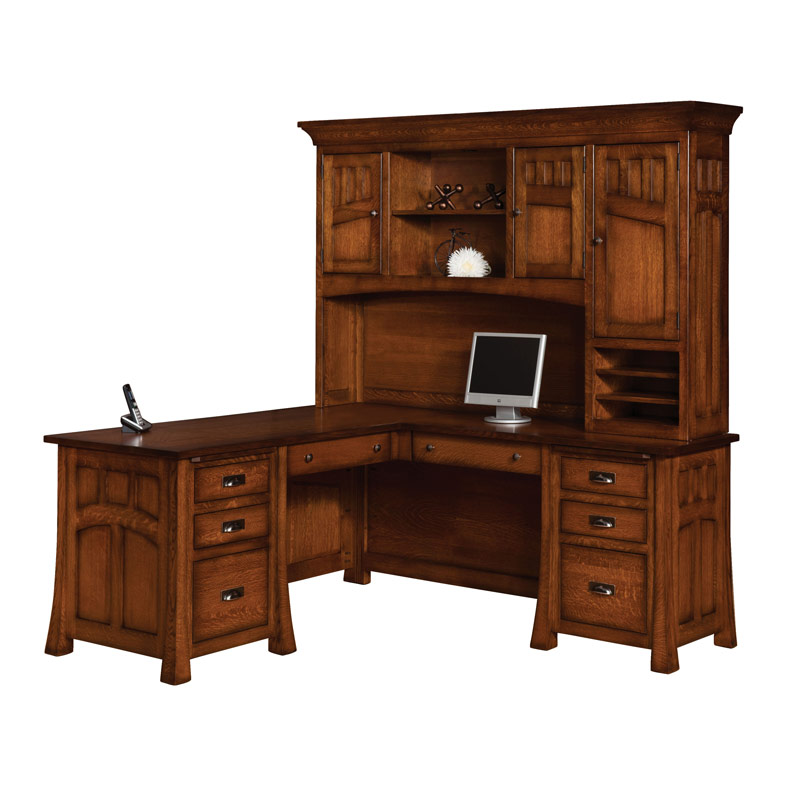 Bridgefort Mission Corner Desk 66x76