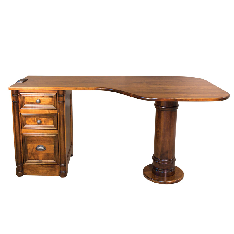 Amish Belmont Pedestal Desk | Amish Furniture | Shipshewana Furniture Co.
