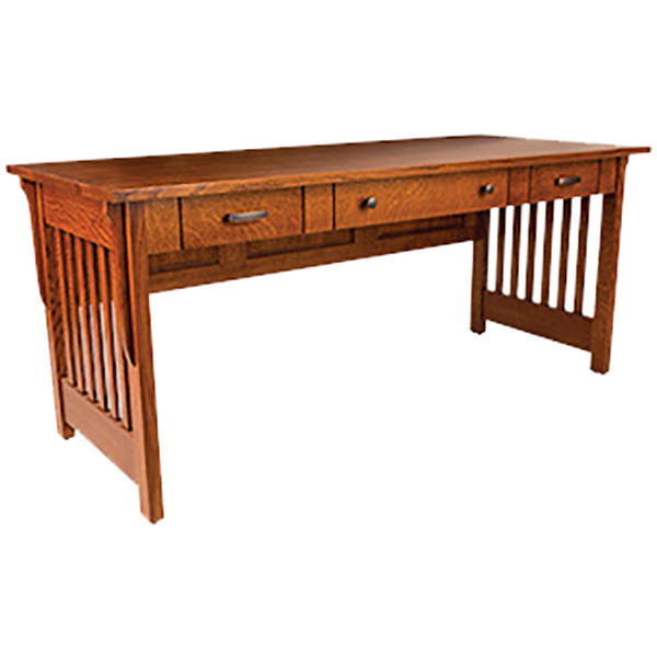 "Amish Boston Open Desk 72""W 
