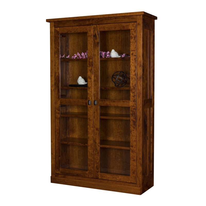 Freemont Bookcase w-Full Length Doors