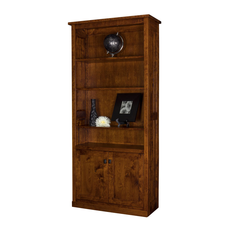 Freemont Bookcase w-Bottom Doors