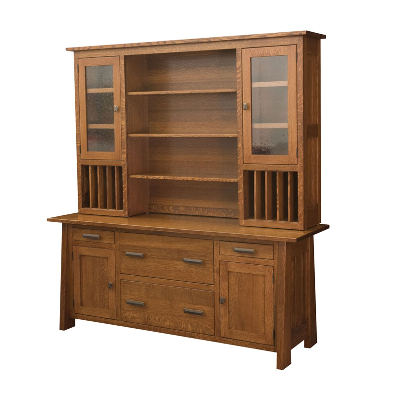 Freemont Mission Credenza - 2 Door, 2 Lateral File