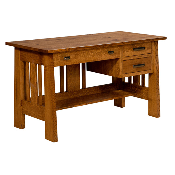 Amish Freemont Mission Open File Desk | Amish Furniture | Shipshewana Furniture Co.