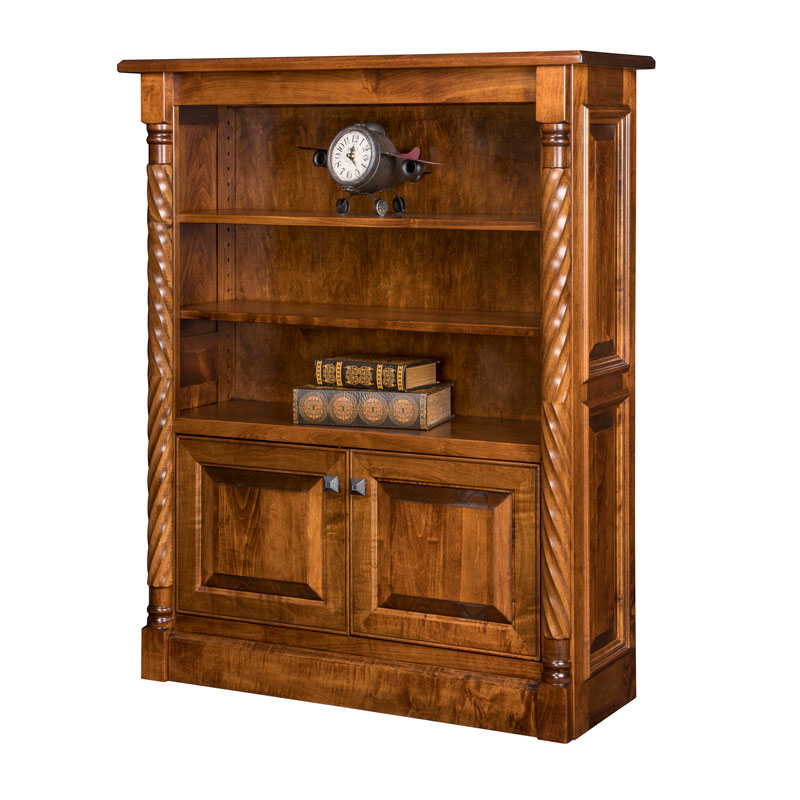 Kincaid Bookcase w-Bottom Doors