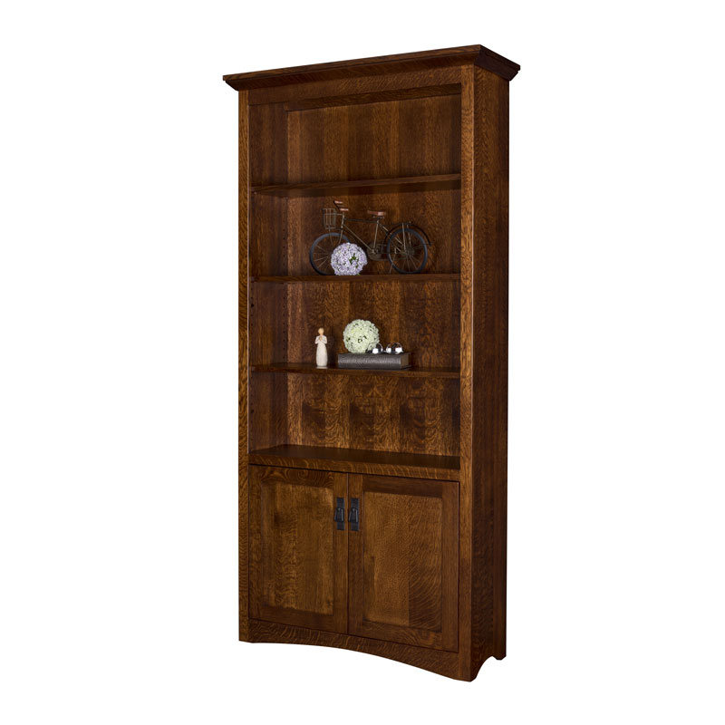 Maysville Bookcase w-Bottom Doors