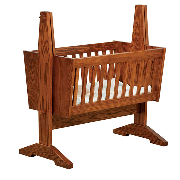 Amish Mission Cradle | Amish Furniture | Shipshewana Furniture Co.