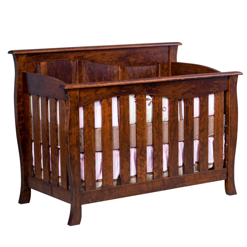 Amish Cayman Slat Crib | Amish Furniture | Shipshewana Furniture Co.
