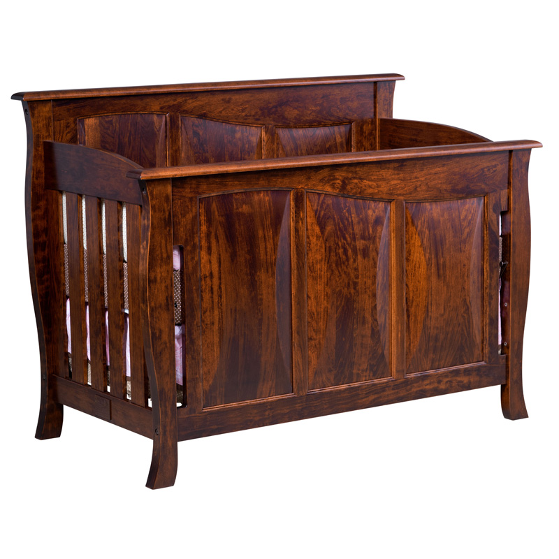 Amish Cayman Panel Crib | Amish Furniture | Shipshewana Furniture Co.