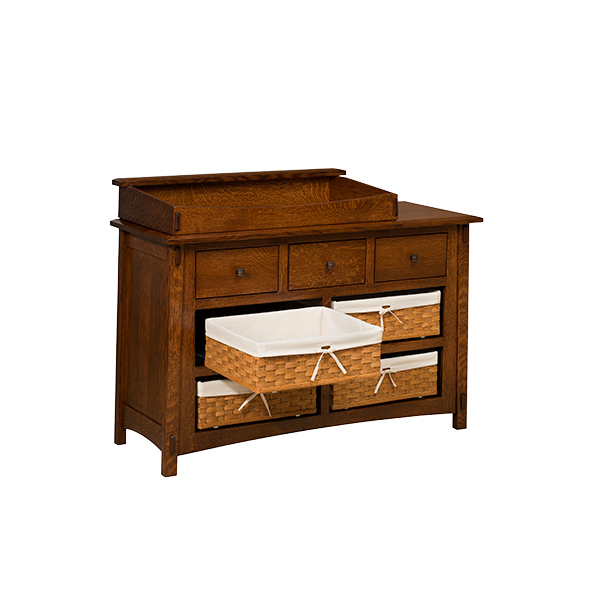 Amish McCoy 7 Drawer Dresser with Baskets | Amish Furniture | Shipshewana Furniture Co.
