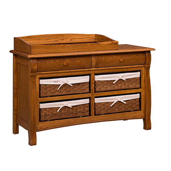 Amish Castlebury 6 Drawer Dresser with Baskets | Amish Furniture | Shipshewana Furniture Co.