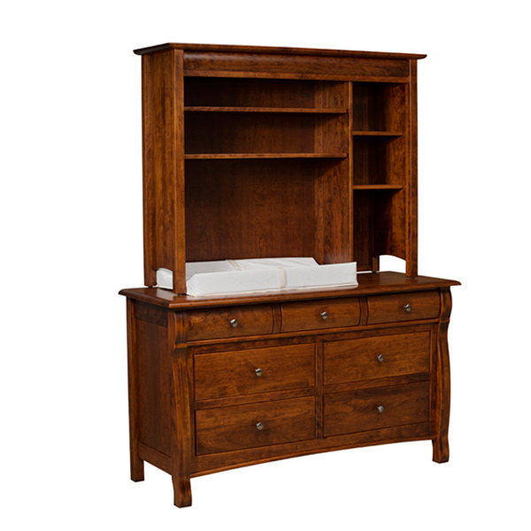 Amish Castlebury Hutch Top | Amish Furniture | Shipshewana Furniture Co.